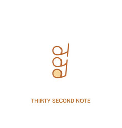 Thirty second note rest concept 2 colored icon vector
