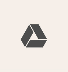 Triangle icon geometric design logo in flat style vector