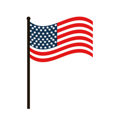 Usa flag nation patriotic symbol vector