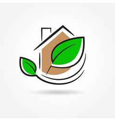 building development symbol emblem vector image vector image