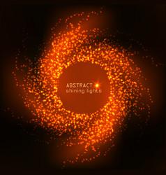 cosmic shining orange background vector image