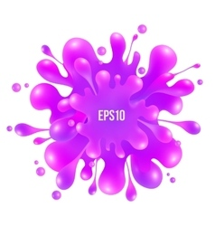 Pink paint splash isolated on white background vector image vector image