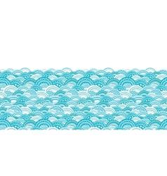 abstract blue waves horizontal border seamless vector image vector image