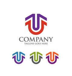 best letter u logo symbol vector image