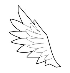 bird wing icon outline style vector image vector image