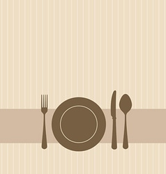 dinner setting vector image vector image
