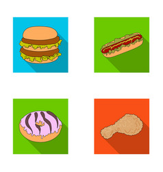 fast food meal and other web icon in flat style vector image