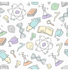 Hand Drawn Science seamless pattern vector image vector image