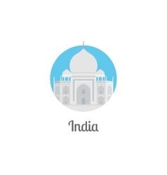 India landmark isolated round icon vector image
