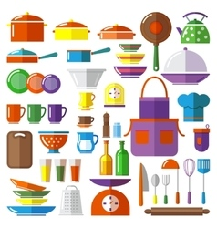Kitchen tool collection vector image