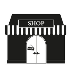 shop sign black icon on vector image
