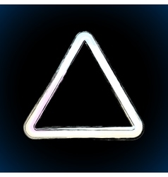 White brush painted ink triangle vector image vector image