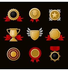 Achievement icons set vector image vector image