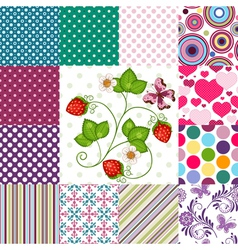 Collection seamless colorful patterns vector image