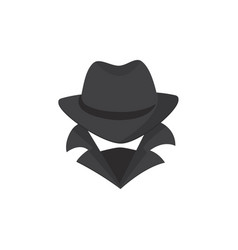 computer hacker an unknown man in a hat and mask vector image vector image