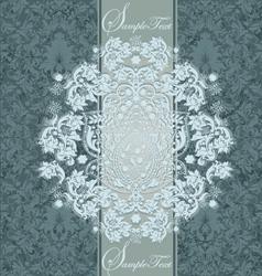 Damask Wedding Invitations vector image