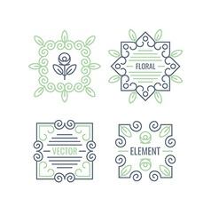 Floral Elements Design Set vector image vector image