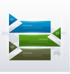 infographic design with triangle shapes for three vector image vector image