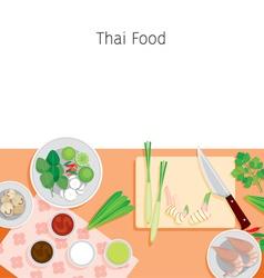 Ingredients Of Thai Soup Tom Yum Kung vector image