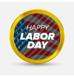 Labor day badge vector image