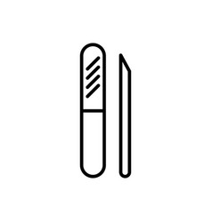 manicure file line icon sign vector image