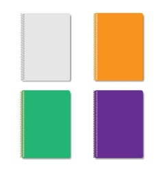 Set of multicolored notepads vector image vector image