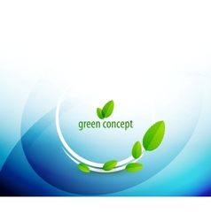 Green circle nature concept vector image