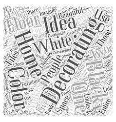 Ideas For Decorating A Home Word Cloud Concept vector image vector image