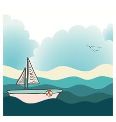ShipLighthouse17 vector image