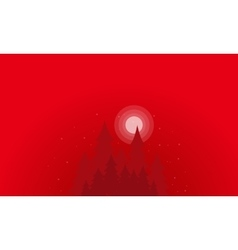 Silhouette of spruce clump scenery vector