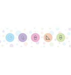 5 angle icons vector