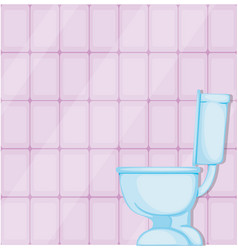 a toilet bowl in toilet vector image