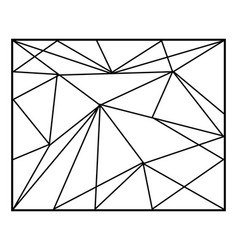 abstract geometric backgrounds in lines polygonal vector image
