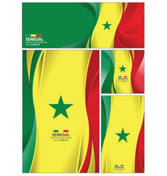 Abstract senegal flag background vector