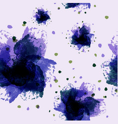 Abstract watercolor floral art hand vector