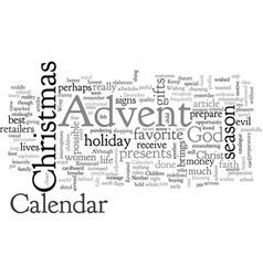 Advent calendar revisited vector