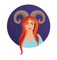 aries astrological sign vector image
