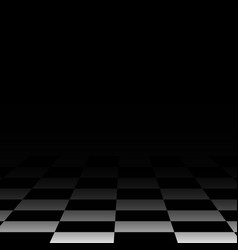 background chess board floor black vector image