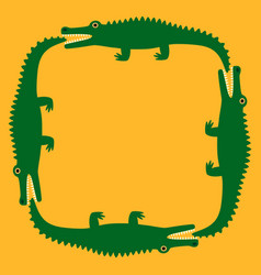 background of the crocodile decorative pattern vector image