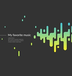 Background with a sound wave vector
