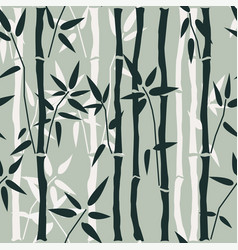 Bamboo seamless pattern on green vector