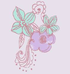 Beautiful flower vector