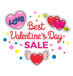 best valentines day sale special holiday offer vector image