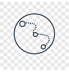 big dipper concept linear icon isolated on vector image