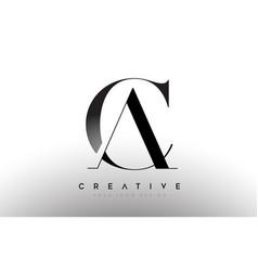 Ca ac letter design logo logotype icon concept vector