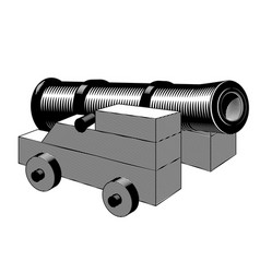 cannon ancient gun vector image