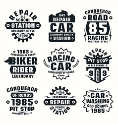 Car repair badges vector image