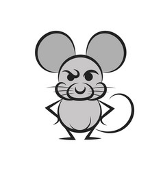cartoon mouse with a piece of cheese vector image