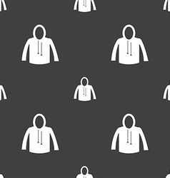 Casual jacket icon sign Seamless pattern on a gray vector