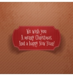 Christmas and New Year vintage red greeting Card vector